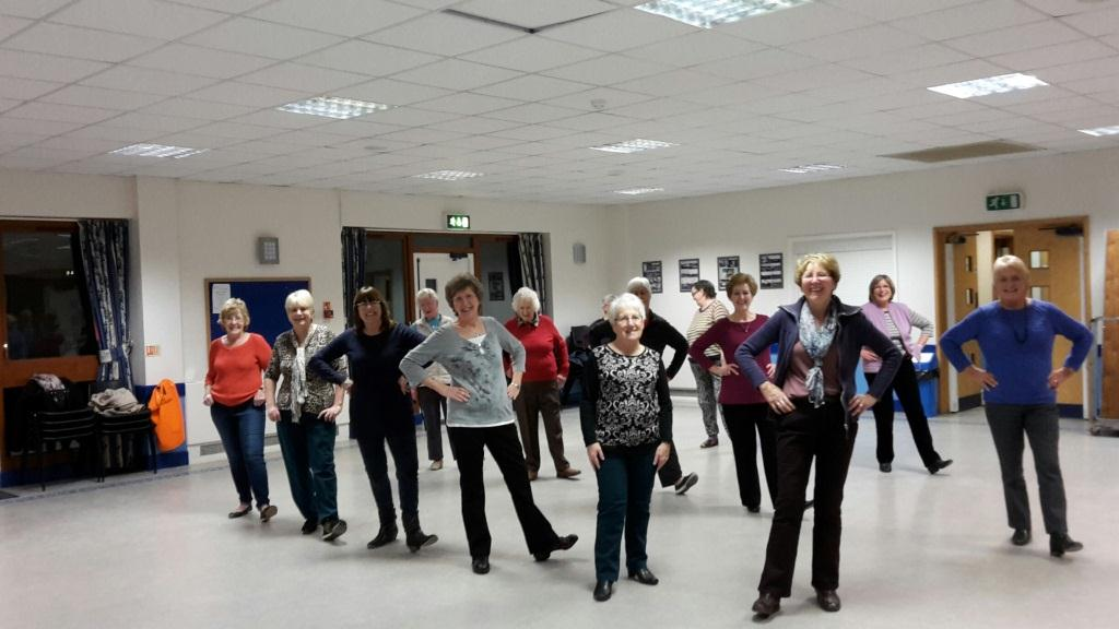 Line Dancing club at Parklands Community Centre, Northampton